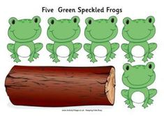 Frog Printables from Activity Village - including Five green speckled frogs