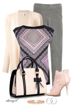 """""""Pink And Grey Casual Contest"""" by sherryvl ❤ liked on Polyvore featuring J.Crew, Diane Von Furstenberg, Oasis, Givenchy, Coco's Liberty and House of Harlow 1960"""