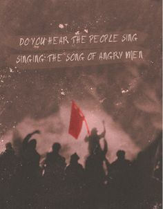 Photos from the movie with quotes from les mis