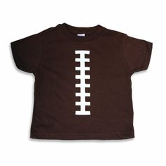 Bambino Balls Unisex Child Short Sleeve Football Outfit Brown and White 2T TShirt * Check out this great product.Note:It is affiliate link to Amazon.