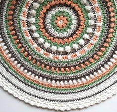 [Free Pattern] Stunningly Beautiful Crochet Mandala Pattern - http://www.dailycrochet.com/free-pattern-stunningly-beautiful-crochet-mandala-pattern/