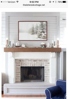 winter mantel - Fireplace Surround Ideas