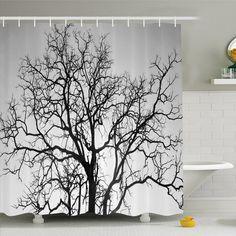 Tropical Jungle Tree Vine Snake Bathroom Shower Curtain Waterproof Fabric /& Hook