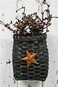 I love this basket. I have one similar hanging on my hutch door. Mine is longer  and filled with pip berries and a boyds bear.