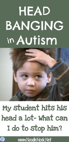Do you have students who hit their heads and injure themselves? Here's a guide to why they do and also how to help. Head Banging in Autism | NoodleNook