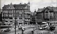 Der Münzplatz/Ecke Französische Straße in den Nähe des Königsberger Schlosses (Nordostecke), Foto 30er Jahre.