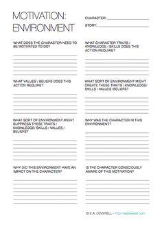 Creative Writing Worksheet   motivation