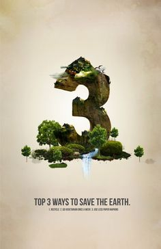 Save The World Poster Design by Akoua Smith, via Behance