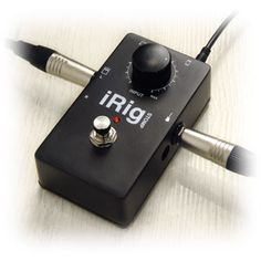 IK Multimedia | iRig STOMP - Stompbox guitar interface for iPhone, iPad, iPod touch