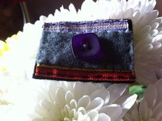 Handcrafted purple and blue rectangular felt by MadeByAmelie, £4.00