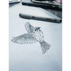 Mandala bird wings
