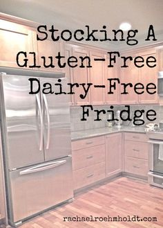 Making the leap to gluten-free dairy-free living? Check out this simple checklist of what to include in your gluten-free dairy-free fridge. Gluten Free Diet, Foods With Gluten, Gluten Free Cooking, Dairy Free Recipes, Dairy Free Foods, Diet Recipes, Gluten Free Products, Dairy Free Food List, Lactose Free Diet Plan