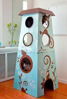 Feline Catemporary Cat Castle