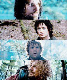 Aragorn, Frodo, Sam and Boromir
