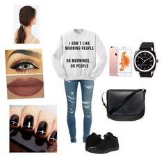 """""""Casual"""" by oliviaolmstead on Polyvore featuring Yves Saint Laurent, Converse, Mansur Gavriel, Briston, Derriére and JEM"""