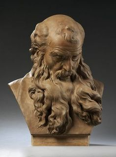 Portrait Drawing Head of a Barded Old Man by Augustin Pajou, France, l Victoria and Albert Museum Face Drawing Reference, Human Figure Drawing, Sculpture Head, Sculptures, Lion Sculpture, Drawing Heads, Guy Drawing, Portrait Inspiration, Old Men