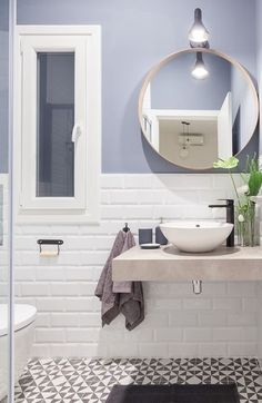 A small bathroom can be stylish, practical and, with the right know-how, space-efficient. Take a look at our best small bathroom design ideas to inspire you to. Best Small Bathrooms Decor and Design Ideas Small Bathroom, Small Bathroom Decor, Mirror Interior, Bathroom Interior, Bathroom Decor, Amazing Bathrooms, Bathroom Design Small, Bathroom Renos, White Interior Design