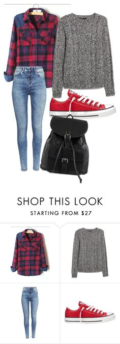 """teen"" by dunjoo1 ❤ liked on Polyvore featuring MANGO, H&M, Converse, NLY Accessories, women's clothing, women, female, woman, misses and juniors"