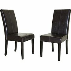 @Overstock - This set of two North Canyon Parsons dining chairs will add a touch of style to your dining area. The elegantly comfortable chairs feature a hardy wood construction in an attractive espresso color, together with stylish faux-leather upholstery.http://www.overstock.com/Home-Garden/North-Canyon-Parsons-Dining-Chair-Set-of-2/3937732/product.html?CID=214117 $116.99