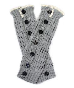 Look what I found on #zulily! Gray Pointelle Button-Up Leg Warmers #zulilyfinds