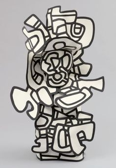 Jean Dubuffet (French, The Anachronism Date:April 5 - July paint on canvas and x 37 x x 94 x cm)Credit Line:Nina and Gordon Bunshaft BequestMoMA 2013 Artists Rights Society (ARS), New York / ADAGP, Paris Museum of Modern Art, NYC Art Sculpture, Abstract Sculpture, Cardboard Sculpture, Wire Sculptures, Sculpture Projects, Sculpture Ideas, Bronze Sculpture, Contemporary Sculpture, Contemporary Art