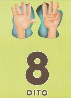 Aprender pela experiência: Educação Infantil e Ciclo Inicial - Cartazes dos números - dedos das mãos
