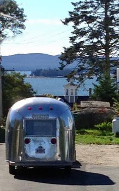 Enjoy a weekend getaway in Maine clamping in a vintage Airstream travel trailer!