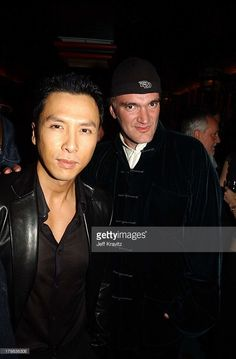 Donnie Yen & Quentin Tarantino during Iron Monkey Premiere in Hollywood, California, United States.