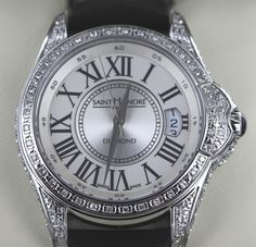 Luxstyle4u - Saint Honore Coloseo Collection Watch with Diamonds in Silver
