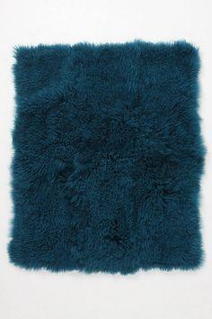 Mongolian sheep fur throw
