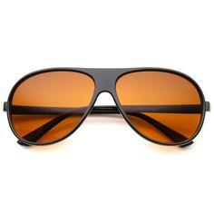 Men's Classic Casual Retro Teardrop Blue Block Lens Aviator Sunglasses 64mm