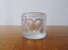 iittala Candle Holder - Glass Heart Votive - Made in Finland