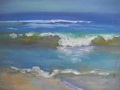 Seascape Painting Small Seascape Daily by CarolSchiffStudio