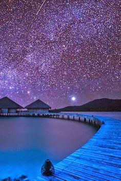 Starry Night. Milky Way, Song Saa Island, Cambodia