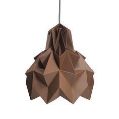 Luminária Pendente Hope – Marrom - Dobrarte Origami