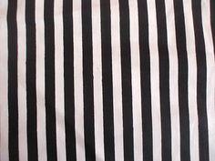 Black with White Stripe 100 Cotton Fabric