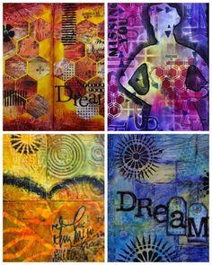 Art Journaling & Mixed Media Workshops with Marjie Kemper - Nashville, Indiana - July 2015