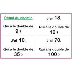 Vous avez cherché doubles et moitiés | Lutin Bazar Le Double, French Lessons, Classroom, Math Equations, Document, School, Names, Gaming Rules, Elementary Schools