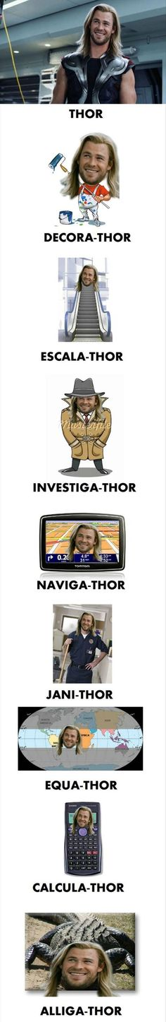 Funny pictures about Thor. Thor Everywhere. Oh, and cool pics about Thor. Thor Everywhere. Also, Thor. Thor Everywhere. Thor Meme, Avengers Humor, Funny Marvel Memes, Dc Memes, Marvel Jokes, Marvel Dc Comics, Funny Jokes, Thor Jokes, Funny Geek