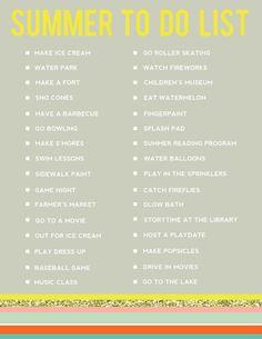Editable Summer Bucket List! - [the good life]