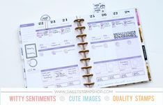 Stamping in a Health and Fitness Planner – Emilee   Sweet Stamp Shop