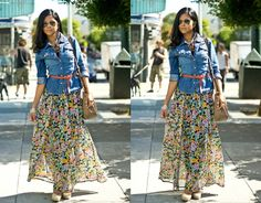floral skirt maxi - Google Search