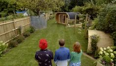 In this episode Alan is designing 2 gardens for neighbours Tim and Claire and Jess amd Carl. They want gardens that connect so their children have access to both gardens. A jet engine is Alan inspiration this episode as well as visits to a Rick Sheen designed garden, the Serpentine and a naked lady made out of mounds. A scaffold pole maze, 2 garden buildings, mounds, Mediterranean style planting and Jess who really does think the garden is greener on the other side. Can Alan cope? Scaffold Poles, Patio Tiles, Mulberry Tree, Screened In Patio, Jet Engine, Galleries In London, Mediterranean Garden, Garden Buildings, Patio Seating