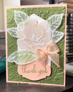 Joanne Brown\'s cards and projects made using Stampin\' Up! products for CHFB Challenge Joann Crafts, Graduation Thank You Cards, Magnolia Stamps, Stamping Up Cards, Card Tutorials, Folded Cards, Creative Cards, Anniversary Cards, Greeting Cards Handmade