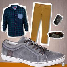 Um look descoladinho pra uma balada, aula, boteco, dar volta, igreja, dar um pulo na farmácia, feira de design, restaurante, show, viagem, cinema...É, esse cara é prático, tá sempre pronto pra tudo! E com muito estilo. #Look #Cool #Sandalo #Mens #Fashion