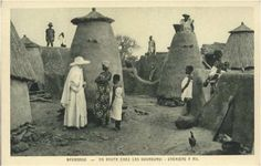 Granaries in a village in Northern Ghana