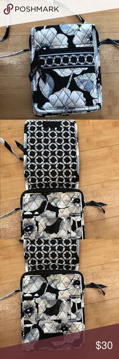 Vera Bradley Crossbody purse This beautiful cross body bag is in excellent condition. The color is black with cream and gray accent Vera Bradley Bags Crossbody Bags