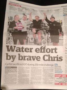 Chris Stevenson virtually cycled 200 miles!