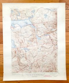 Topographic Map Vermont.Antique East Barre Vermont 1948 Us Geological Survey Topographic
