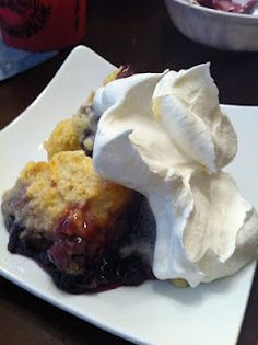 Niki Cooks for Interstitial Cystitis: Blueberry & Pear Cobbler- Had this last night. It was SO good!!